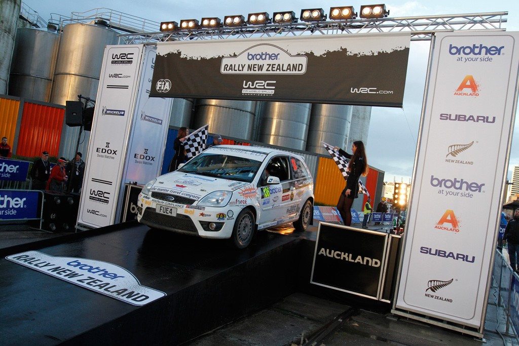 Rally NZ Finish Ramp